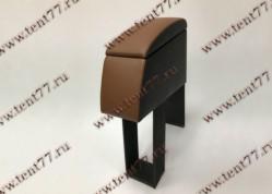 Подлокотник БАР между сидений Газель 3302 перфорированная кожа коричневый