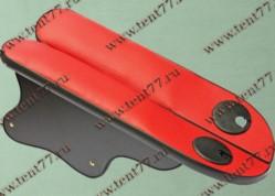 Подлокотник на дверь Газель 3302 с подстаканником перф.кожа красный к-т 2шт