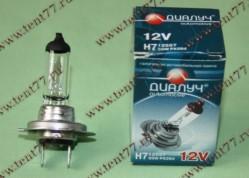 Лампа фары галогенная Н7 12V  55W PX26d Диалуч