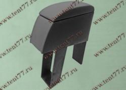 Подлокотник БАР между сидений Газель 3302 перфорированная кожа серый