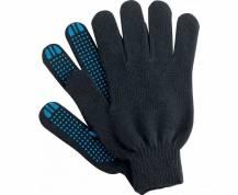 Перчатки ХБ 5 нитей с ПВХ (10 класс) (точка) чёрные