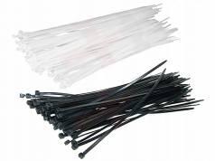 Хомут пластиковый (стяжка) 4(3,6)*300мм цв.черный (уп.100шт)