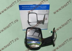 Зеркало  Газель 3302 (нового образца) левое (с поворот - обогрев- эл.привод) черный матовый