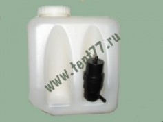 Бачок омывателя на Газель 3302, 3307, ВАЗ 2101-07 нового образца в сборе с насосом (2,2 л)