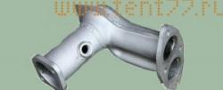 Труба приемная Газель 3302 двигатель 405 ЕВРО-3 под нейтрализатор (угол)