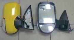 Зеркала на Газель (комплект) ГАЗ-3302/2217 нового образца с повторителем (цвет жёлтый)