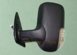 Зеркало на Газель ГАЗ-3302, 2217 с поворотником (цвет черный матовый) левое