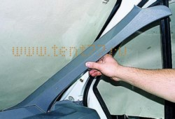 Накладка стойки на Газель ГАЗ-3302 ветрового окна внутренняя правая н/об
