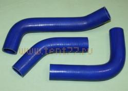 Патрубки радиатора на Газель ГАЗ-3302 БИЗНЕС двигатель 4216 комплект 3 шт. силикон