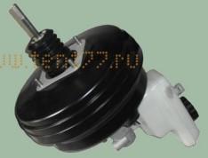Усилитель тормозов вакуумный на Газель ГАЗ-3302 БИЗНЕС с ГТЦ и бачком в/сб. /BOSCH/
