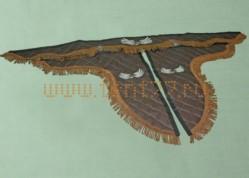 Ламбрекен из экокожи на Газель коричневый