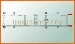 Удлинитель рамы Газель (задний) длиной 800мм  толщиной 4мм