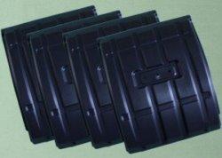 Брызговик на Газель 3302 задний пластмассовый компл 4шт.