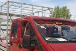 Ламбрекен лобового стекла Газель Некст (NEXT) (цвет красный)