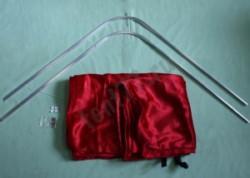 Шторки кабины Газель 3302 на направляющих (цвет красный)