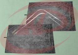 Шторки кабины Газель 3302 на направляющих (цвет черный)