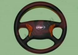 Колесо рулевое на Газель -3302 БИЗНЕС-ДЕЛЮКС с отделкой под дерево