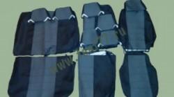 Чехлы Газель-3302 NEXT (некст) 7-ми местка (жаккард) цв.темно-серый, светло-серый, черный