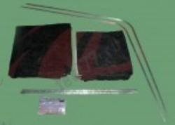 Шторки кабины Газель Фермер на направляющих (цвет черный)