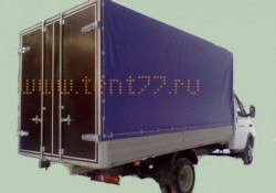 Тент под ЕВРОБОРТ с воротами длина 4,25 м по размерам заказчика