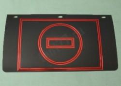 Брызговик задний.230мм (резина-полимерный) с рисунком  Знак КИРПИЧ