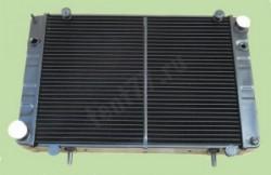 Медный радиатор охлаждения двигателя .Газель 3302 3-х рядный нового образца