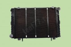 Медный радиатор охлаждения двигателя Газель 3302 3-х рядный  нового образца (теплоотдача и55%)