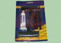 Аптечка для ремонта бескамерных шин (шило, клей, вставки 3 шт)