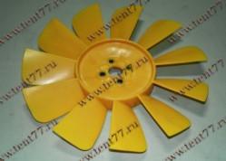 Вентилятор  двигатель 402, 406 11 лопастей  цвет жёлтый