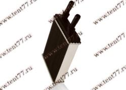Радиатор отопителя Газель 31105 (ф=20mm) 2-х ряд алюминиевый
