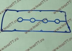 Прокладка клап. крышки УАЗ двигатель 409 ЕВРО-4 силикон (10 отв) (син/зел/красн) с упл.свеч.колодца