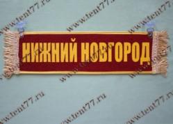 Вымпел прямоугольный на присосках с надписью  Н.НОВГОРОД ПУСТОЙ  (красный)